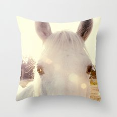Sunshine horse Throw Pillow