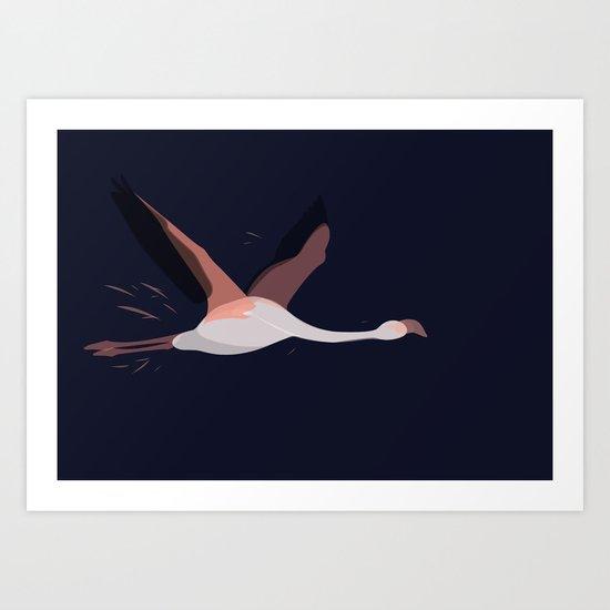 Flying Through Midnight Art Print