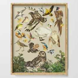 Bird poster Serving Tray