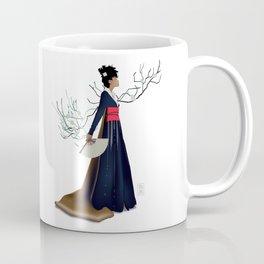 Modern Woman in Kimono Coffee Mug
