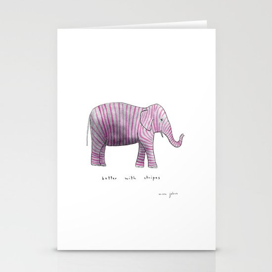 better with stripes Stationery Cards
