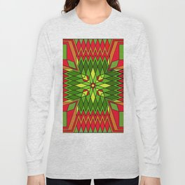 Poinsettia Flower Long Sleeve T-shirt