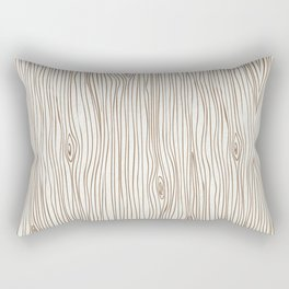 Wood Grain - Brown Rectangular Pillow