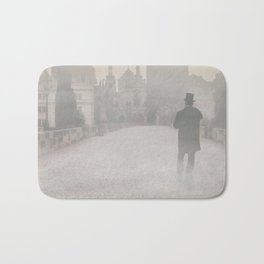 Prague in the morning fog Bath Mat