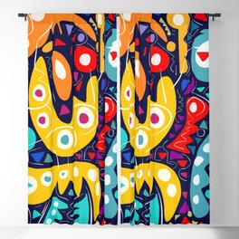 Night Life Abstract Art pattern decoration Blackout Curtain
