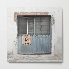Muted Azul Door - Tala Mexico Metal Print