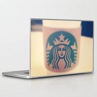 starbucks Laptop & iPad Skins featuring Starbucks Coffee by Accorden2Worden