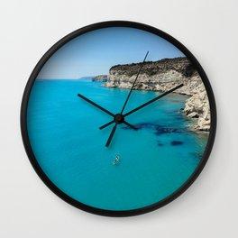 Kourion beach Wall Clock