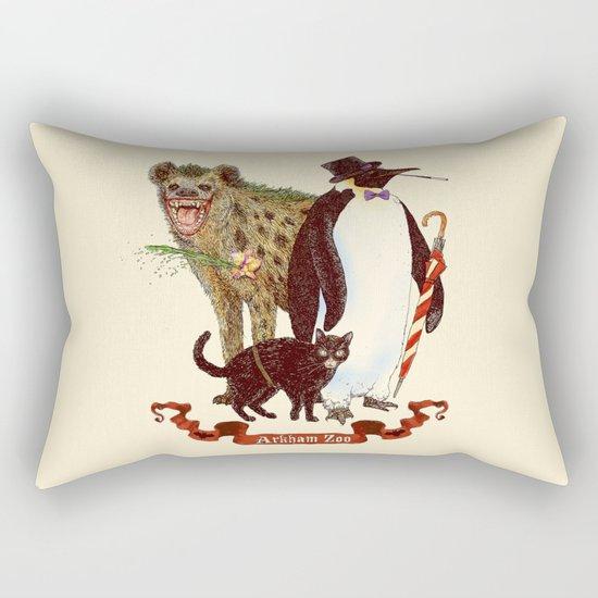 At the Arkham Zoo Rectangular Pillow