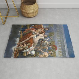 Mars Being Disarmed by Venus and the Three Graces, Fine Art Print Rug