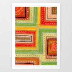 Autumnal tangle tracks Art Print