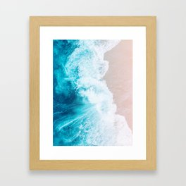 Beach Waves Framed Art Print