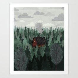 Cottage in the Woods Kunstdrucke