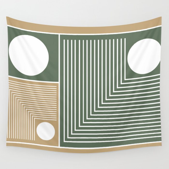 Stylish Geometric Abstract Wall Tapestry