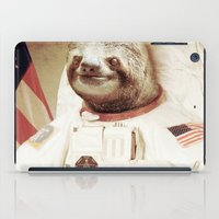 astronaut iPad Cases featuring Sloth Astronaut by Bakus