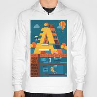 building Hoodies featuring A Building by Orkha