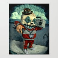 beastie boys Canvas Prints featuring Beastie Calavera. by Jonathan  Bergeron