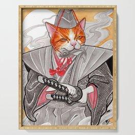 Samurai Cat Serving Tray