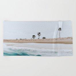 newport beach, california Beach Towel
