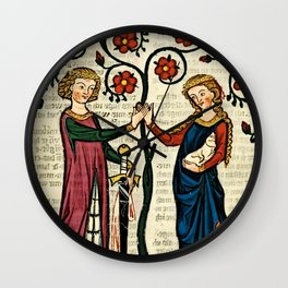Codex Manesse: Bernger von Horheim Wall Clock