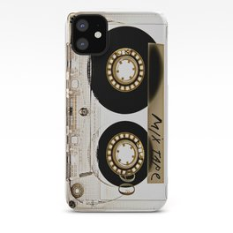 Retro classic vintage transparent mix cassette tape iPhone Case