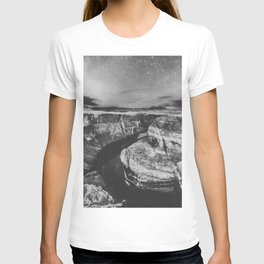 Southwest Starry Night Black and White T-shirt