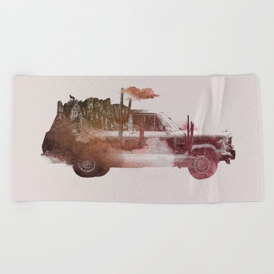 Drive me back home 2 Beach Towel