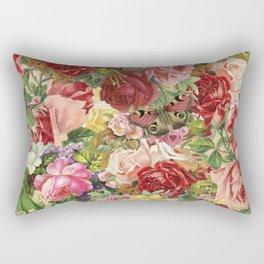 Vintage Retro flower pattern old fashioned Rectangular Pillow
