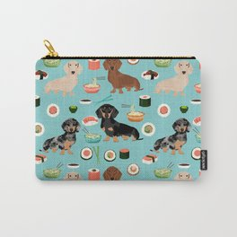 dachshund sushi multi coat doxie dog breed cute pattern gifts Carry-All Pouch