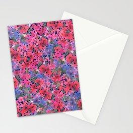 Dark Red Poppy Garden Stationery Cards