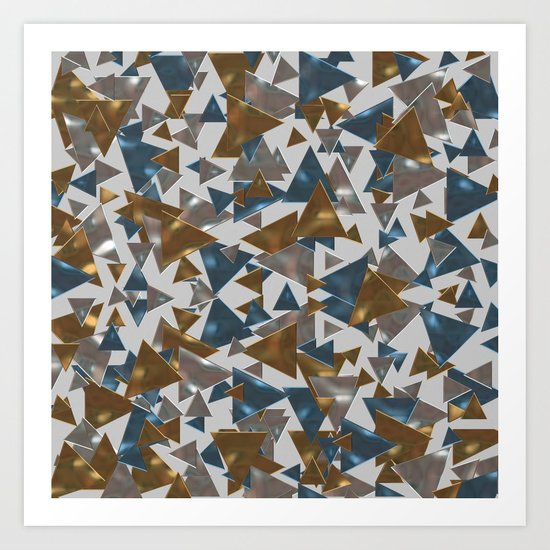 Triangle Explosion Art Print