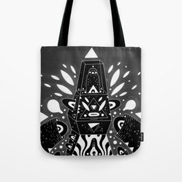 techno ghost Tote Bag