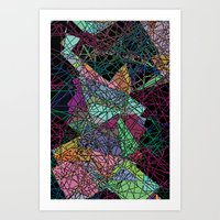 maps Art Prints featuring Maps by Hipsterdirtbag