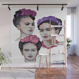 The three Fridas Wall Mural