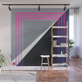 London - pink graphic Wall Mural