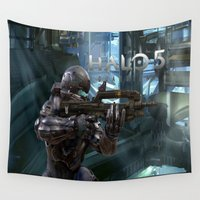 guardians Wall Tapestries featuring Halo5 Guardians by giftstore2u