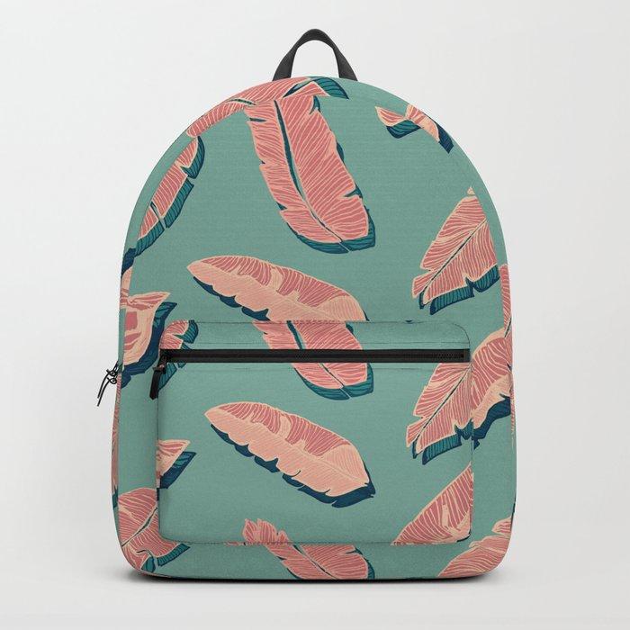 Falling Pink Leaves #society6 #decor #buyart Backpack