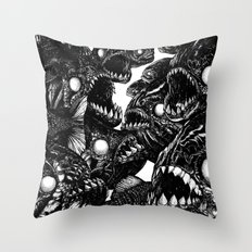 The Riot : Piranhas Throw Pillow