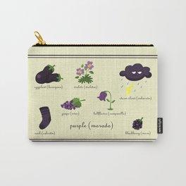 Colors: purple (Los colores: morado) Carry-All Pouch