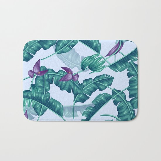 tropical flower Bath Mat
