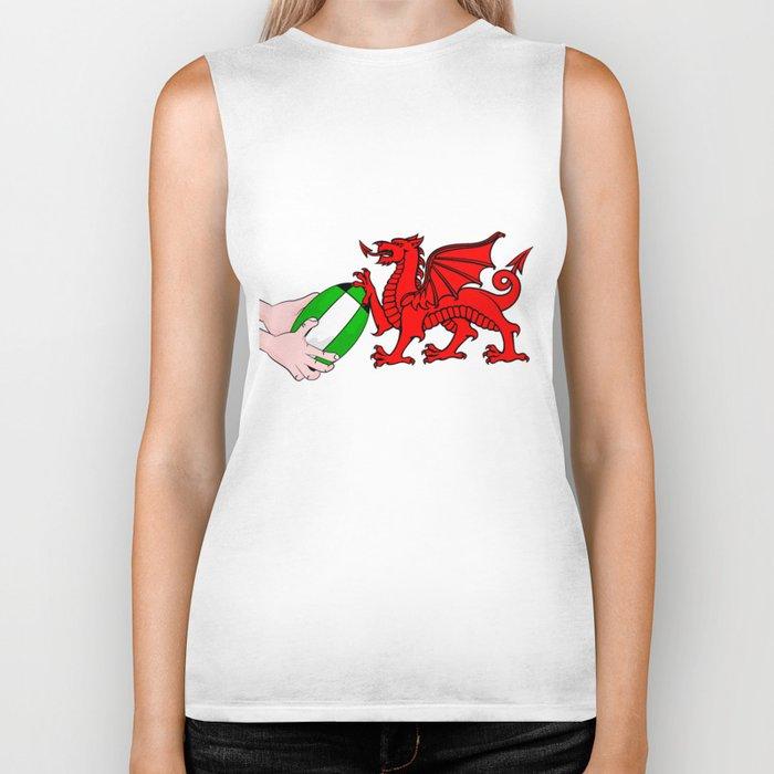 Wales Rugby Flag Biker Tank