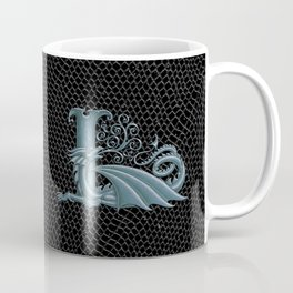 """Dragon Letter L, from """"Dracoserific"""", a font full of Dragons Coffee Mug"""