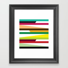 Irregular stripes #2 Framed Art Print