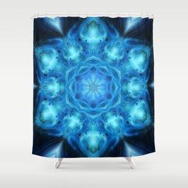 Blue Nova Mandala Shower Curtain