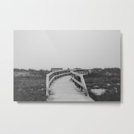 Boardwalk (BW) Metal Print
