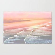 Pink Ocean Canvas Print