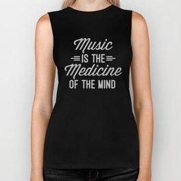 Music Medicine Mind Quote Biker Tank