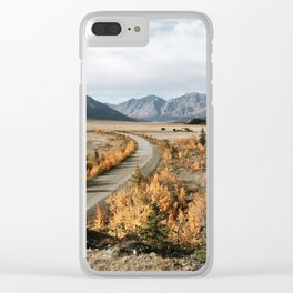 Fall Yukon Valley Clear iPhone Case