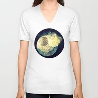 atlas V-neck T-shirts featuring Atlas Planet by Jasmine Smith