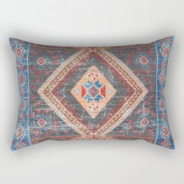 (N16) Boho Moroccan Oriental Artwork for Rustic and Farmhouse Styles. Rectangular Pillow